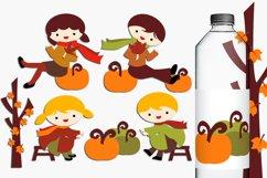 Harvest time - Autumn Fall Season Illustrations Product Image 1