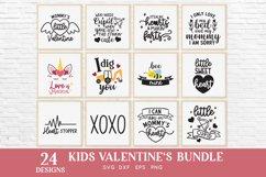 24 Kids Valentines svg bundle - kids valentines day shirt Product Image 2