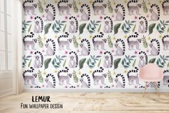 Watercolor Lemur. Patterns, Cliparts Product Image 4
