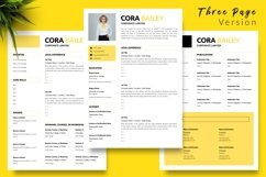 Legal Resume CV Template for Word & Pages Cora Bailey Product Image 4
