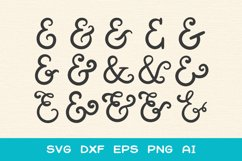 15 Ampersands for Crafters - SVG DXF EPS Cutting Files Product Image 2