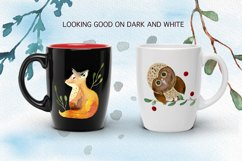 Winter Forest Watercolor Graphic Set Product Image 5
