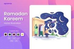 Ramadan Kareem Greeting concept flat Illustration Product Image 1