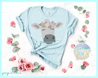 Cow Face With Roses Svg Dxf Eps Png Pdf Files Product Image 3