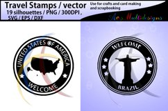 Travel Stamps vector / Travel Stamp silhouette / vector Product Image 2