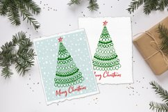Merry Christmas card with Christmas tree SVG.PNG.JPG.EPS10 Product Image 3
