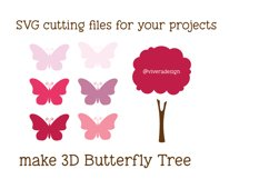 Butterfly Tree PNG SVG Pomegranate Pink Product Image 2