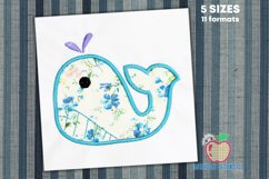 Whale With The Outline Applique Product Image 1