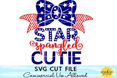 Star Spangled Cutie svg, Fourth of July SVG, 4th of July SVG Product Image 1
