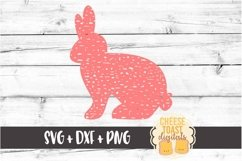 Easter Bunny - Distressed - Easter SVG PNG DXF Cut Files Product Image 2