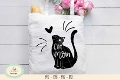 Cat mom SVG cut file, cat lover Product Image 1