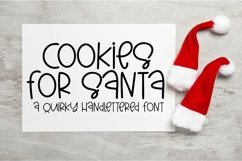 Web Font Cookies For Santa - A Quirky Hand-Lettered Font Product Image 1