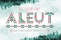 Tribal Aleut OTF color font.  Product Image 1