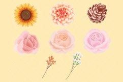 Autumn Flower Clip Art Product Image 2