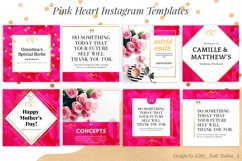 Pink Heart Ready made Instagram Canva Template Product Image 1