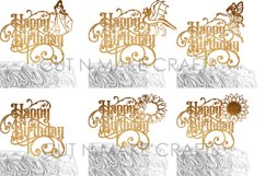 24 Birthday Cake Topper SVG Bundle | cake topper template Product Image 2