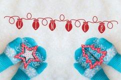 YULE - Christmas Lights Font  Product Image 5