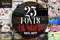 25 Fonts Bundle Product Image 1