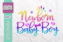 Newborn Baby Boy New Arrival Coming Home Sublimation Sign Product Image 1