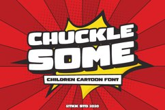 CHUCKLESOME - Comic Font Product Image 1
