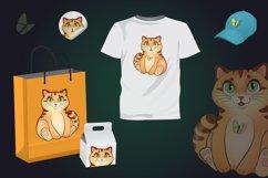 Cute kitten, cat in cartoon style, kitty vector illustration Product Image 3
