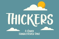 Thickers - Quick Handlettered Font Product Image 1