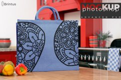Photoshop mockup Burlap shopping-bag, tote bag, jute bag Product Image 3