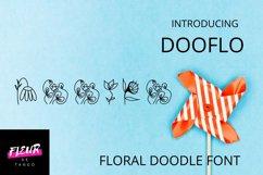 Dooflo - an amazing doodle floral font Product Image 1