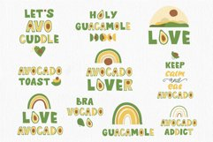 Avocados Quotes, Avocado Rainbow lettering, EPS, PNG Product Image 2