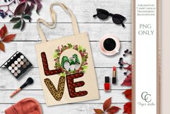 LOVE PNG - sublimation design - Christmas gnome wreath green Product Image 3