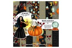 Halloween Digital Paper Pack Halloween Witch Product Image 1