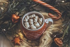 Cup of hot cocoa with marshmallows Product Image 1