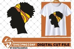 5x Black Woman Bundle SVG, Afro Girl svg, hair band SVG Product Image 6