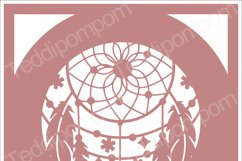 DREAMCATCHER SVG Papercut Frame, cricut silhouette svg Papercutting, Card Making,Digital Upload Product Image 1