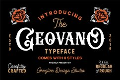 Geovano - Vintage Font Family Product Image 1