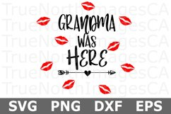 Grandma Was Here - A Baby SVG Cut File Product Image 2