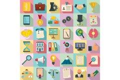 Corporate governance icons set, flat style Product Image 1