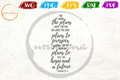 For I Know The Plans I Have For You Bedroom Sign SVG PDF PNG Product Image 1