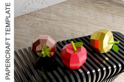 PDF Template of Apple fruit papercraft template / 3D craft Product Image 6