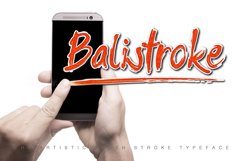 Balistroke Font Product Image 1