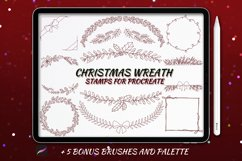 20 Christmas Wreath Stamp Brushes for Procreate Product Image 1