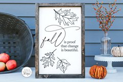 Fall Is Proof That Change Is Beautiful SVG - Autumn Design Product Image 4