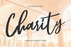 Web Font Charity - A Beauty Script Font Product Image 1