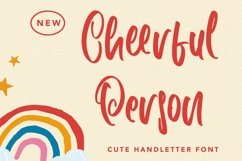 Web Font CheerfulPerson - Cute Handletter Font Product Image 1