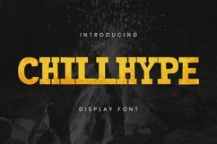 Web Font Chillhype Font Product Image 1
