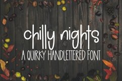 Web Font Chilly Nights - A Quirky Handlettered Font Product Image 1