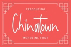 Web Font Chinatown Font Product Image 1