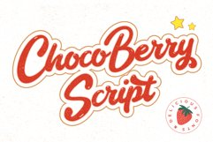Choco Berry - Delicious Food Fonts Product Image 1