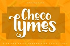 Web Font Chocolymes - Boldy Handwriting Script Font Product Image 1