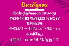 Web Font Chocolymes - Boldy Handwriting Script Font Product Image 3